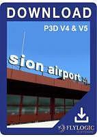 Aéroport Sion P3D V4 V5 français