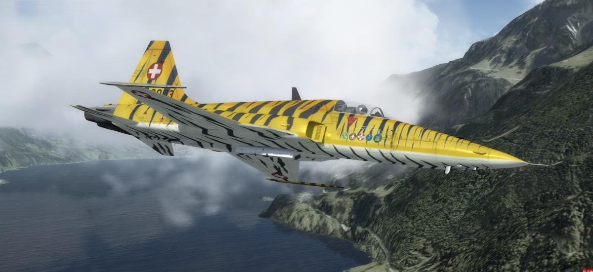 FLY THE TIGER F-5 P3D V4 - English titles P3D V4 - FlyLogic